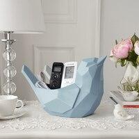 Креативный геометрический держатель для телефона с птицей, пульт дистанционного управления, держатель для ключей, гостиная, журнальный сто