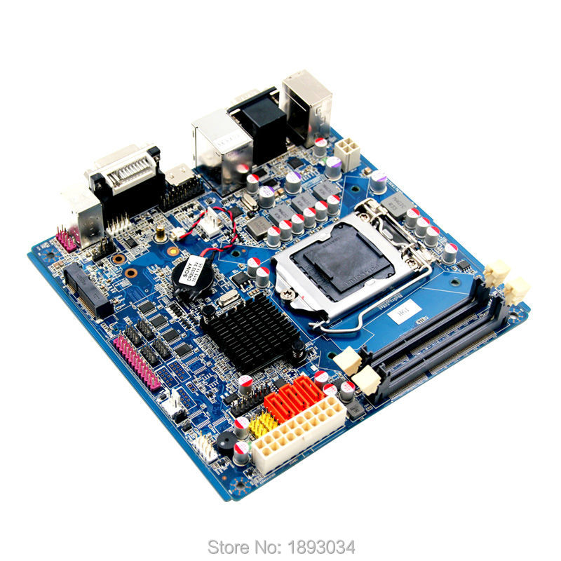 LGA1155 motherboard H61 chipset motherboard with Onboard 2*Mini PCIE expansion header integrated 64gb emmc chipset with 1 mini pcie is used for n box mini pc embedded motherboard