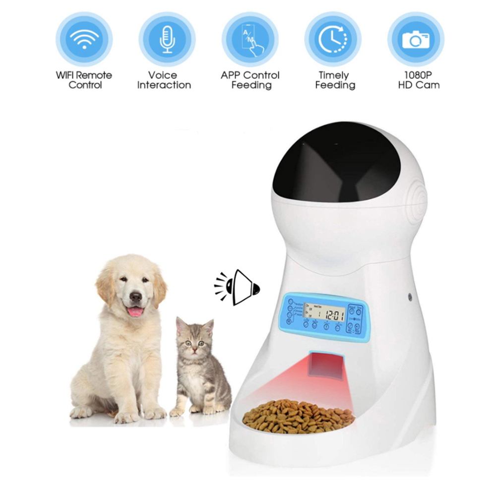Honsene Automatic Cat Feeder 3L Pet Food Dispenser Feeder for Medium and Large Cat Dog 4