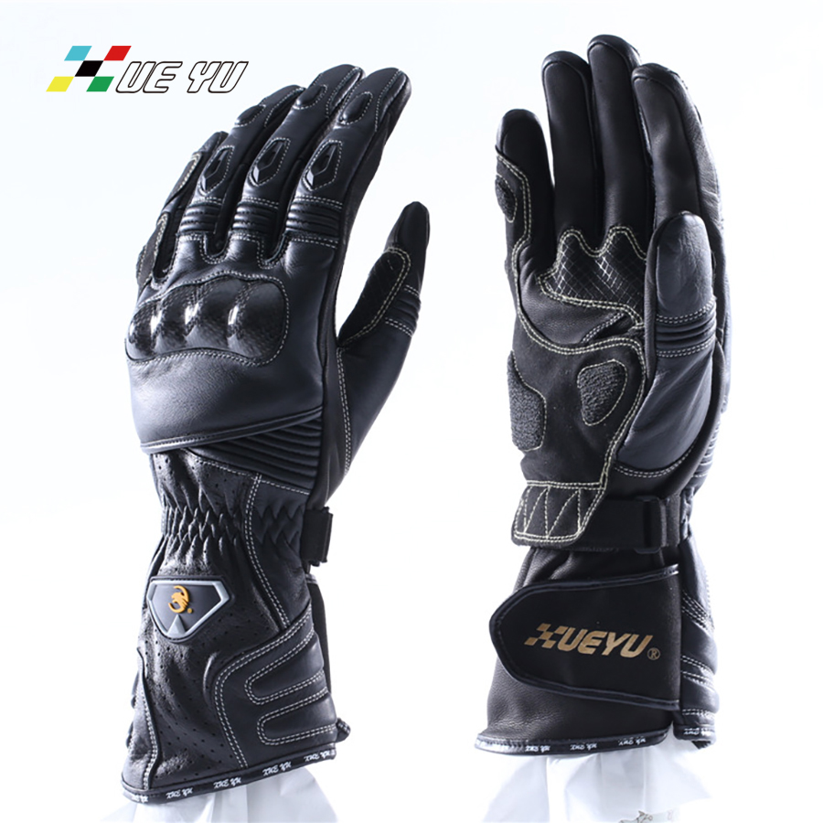 XUE YU Cow Leather guantes moto Extended Protector Long Waist Special motorcycle gloves For racing gloves motorcycle MTO-018 цена