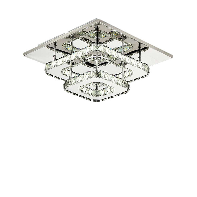 Square Modern LED Crystal Lights Fixture For Dining Room Hallway Aisle Porch Stairs Lighting Indoor Home Lamp Lamparas De Techo square modern led crystal ceiling lights fixture bedroom living room aisle porch stairs hallway lighting lamparas de techo lamp