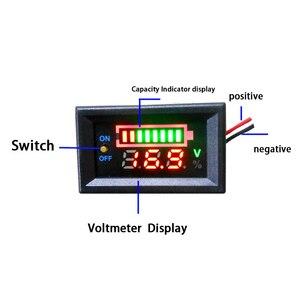 Image 2 - 2S 3S 4S リチウムバッテリー 12V 24V 48 12v 鉛酸バッテリー容量インジケータデジタル電圧計充電レベルテスターデュアルディスプレイ
