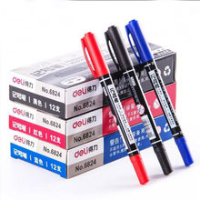 Marker Pens Good Waterproof Ink Thin Nib Crude Nib Black New Portable Fine Colour Marker Pen 3 Color Available Colored dual tip(China)