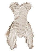 Corpiño gótico satinado para esculpir, hebilla de acero, elegante palacio, falda de princesa, ropa de boda, S 2XL