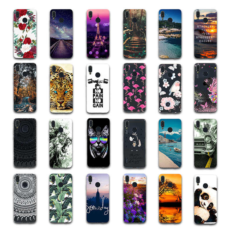 ProBefit for Huawei P20 Lite P10 Plus P20 Pro P8 P9 lite 2017 Clear Phone Cover Capa Flower Floral Tiger Cat Animal Painted Case