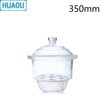HUAOU 350mm Desiccator with Porcelain Plate Clear Glass Laboratory Drying Equipment