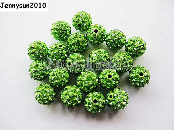 Beads Jewelry & Accessories Pack Sincere 6mm Peridot Top Quality Czech Crystal Rhinestones Pave Clay Round Disco Ball Spacer Beads For Jewelry 100pcs