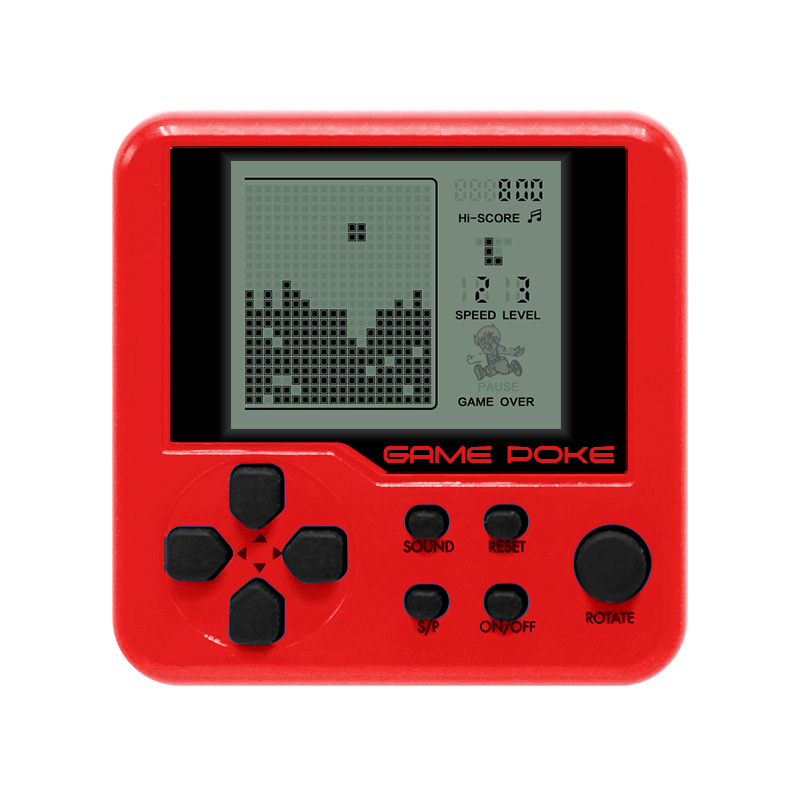 Built-in 26 Game Mini Tetris Konsol Game Retro Matchbox Tetris Konsol Konsol Game LCD Portabel Elektronik Mainan Pendidikan