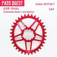 Passar Busca 34T Para Sram Pedaleira de Bicicleta de Montanha Bicicleta Roda Dentada Oval XX1 XO1 X1 GX XO X9 MTB Bicicleta coroa