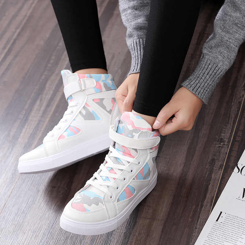 Women canvas shoes for 2017 spring and autumn female High-top 4 colors classic casual shoes footwear size 35-40