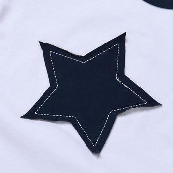 Newborn baby boys clothing set five-star t-shirt and short 2pc set 4