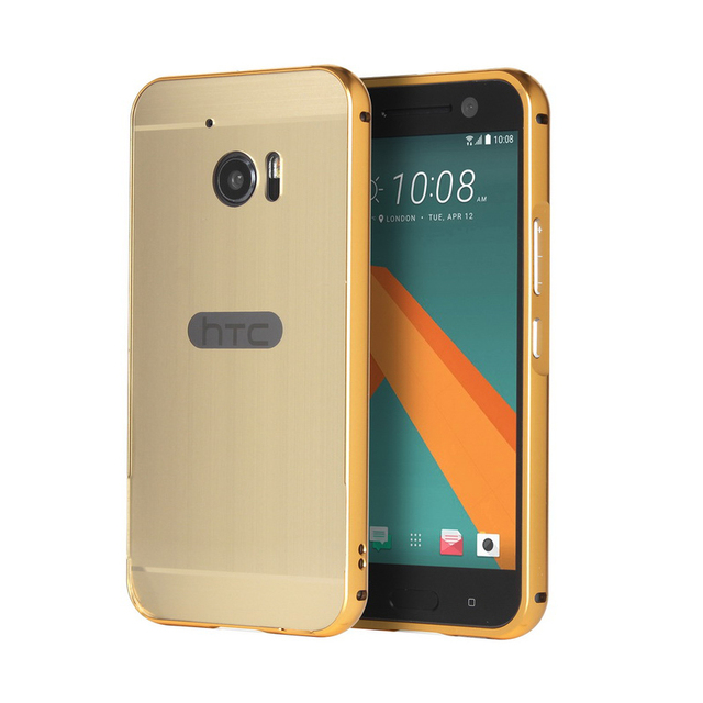 htc 10 case gold. new luxury aluminum metal bumper + brushed back case for htc 10 m10 htc gold o