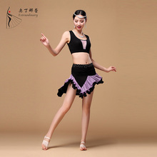 5 Colors New Arrival Oriental Belly DanceSide Split Elastic Waist Women  Skirt  For Belly Dancing  SK01148