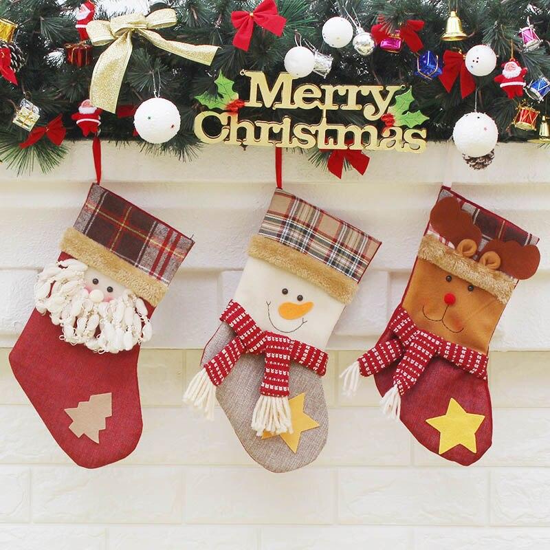 3 Muster Lustige & Netter Weihnachtsstrumpf Weihnachtsmann ...