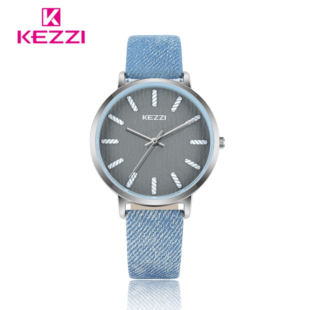 KEZZI Dameshorloge Casual Topmerkhorloge Dames Klok Denim Blauw - Dameshorloges - Foto 2