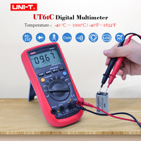 Digital Multimeter UNI T UT61C AC DC volt Ampere meter Ohm Capacitance Frequency Temperature Diode Tester RS232 PC Connect