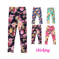 2015 Spring Autumn Winter New Fashion Children's 1-8 Year Cotton Warm Pant Girls Kids Flower Thickening Trousers Print Legging
