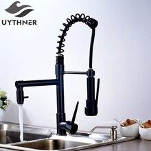 Uythner Moderne Massivem Messing Öl Eingerieben Bronze Küchenarmatur Mischbatterie Einzel Sharp Griff Einlochmontage