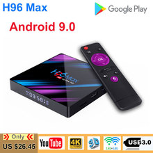 android tv box H96 MAX RK3318 Set Top 4G DDR3 USB 3.0 Bluetooth 4.0 Android 9.0 OS 4K H96 youtube 4K 2.4G/5G Wifi smart box все цены