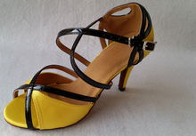 Wholesale Ladies Girls Yellow Satin  Ballroom Latin Samba Salsa Ceroc Tango Dance Shoes All Size