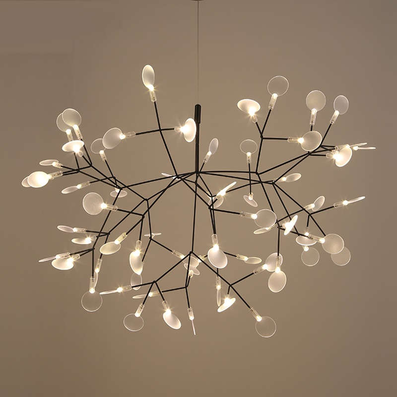 Modern Heracleum Tree Leaf Pendant Light LED Lamp Suspension Lamps Living Room Art Bar Iron Restaurant Home Lighting PA0217