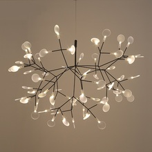 Moderne Heracleum arbre feuille pendentif lumineux LED lampe Suspension lampes salon Art Bar fer Restaurant éclairage à la maison AL127