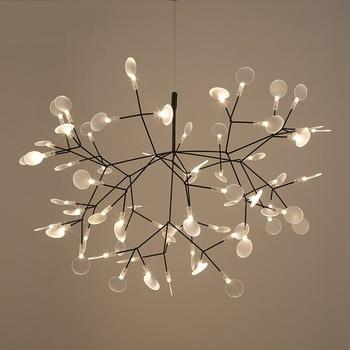 Modern Heracleum Tree Leaf Pendant Light LED Lamp Suspension Lamps Living Room Art Bar Iron Restaurant Home Lighting PA0217