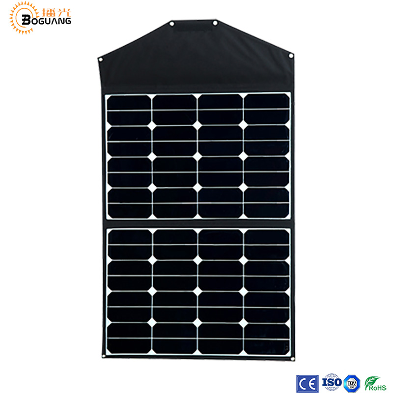 Solar folding board 18v 60w solar panel 3.3A portable foldable solar charger with 12V/24V PWM 10A controller battery charger