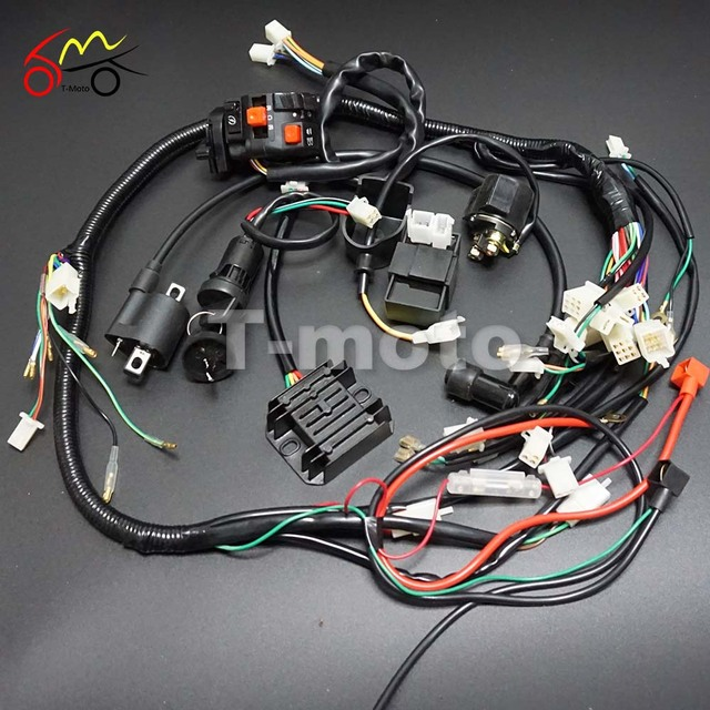full wiring harness loom ignition coil cdi for 150cc 200cc 250cc rh aliexpress com Truck Wiring Harness Truck Wiring Harness
