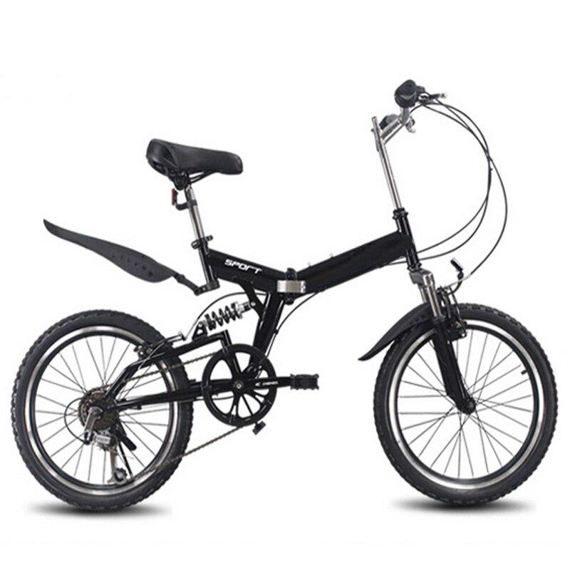 20 pouces pliant VTT 6 vitesse variable vélo route vélo mâle et femelle vélo pliant vélo vitesse variable