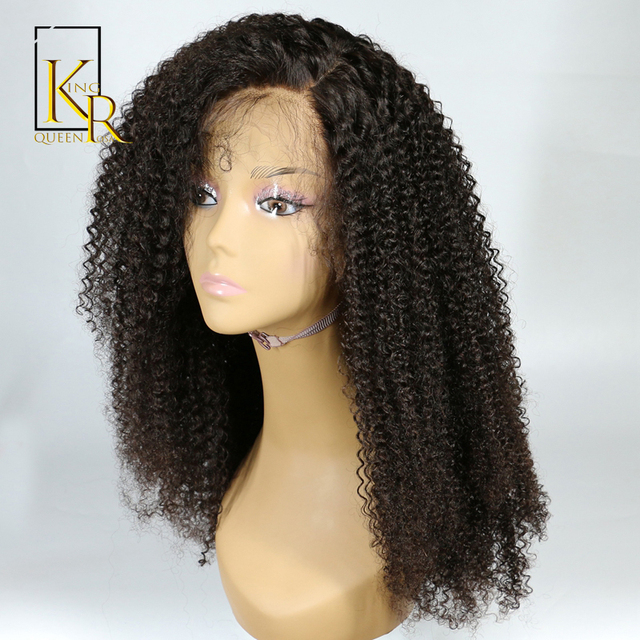 Lace Front Human Hair Wigs For Black Women Brazilian Afro Kinky Curly Wig Remy Hair Pre Plucked Bleached Knots King Rosa Queen