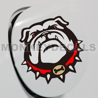 Car Styling Decals Bull Dog 12 X 12 Cm Carbon Fiber Background Colorful Reflective Waterproof Vinyl