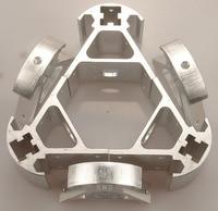 Blurolls Silver Color Delta Rostock Kossel k800 aluminum magnetic effector carriage+A
