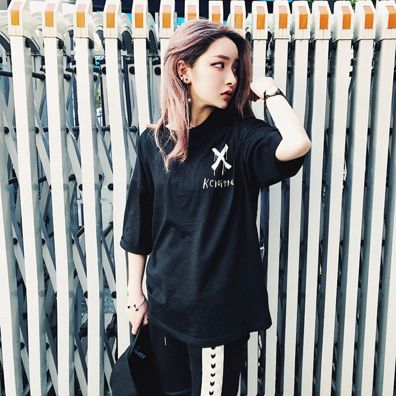 2018 Women Hip Hop Doodle Tees Shirts Peace T Shirt US Size S-XL