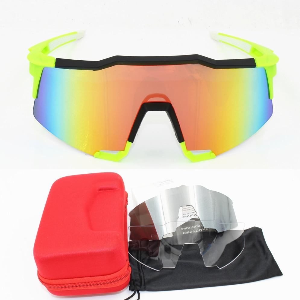 Airsoftsports 3 lens Ciclismo Óculos Polarizados Homens Esporte Mtb  Mountain Bike Óculos Óculos Óculos de Óculos MTB UV400 fee43f23fe
