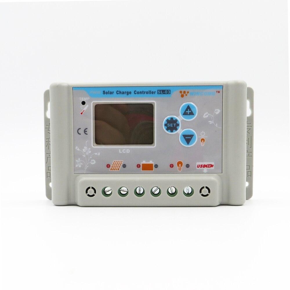 1 pc x 30A 36 V 48 V 60 V wincong sl03-4830a régulateur de régulateur de système solaire domestique avec USB 5 V
