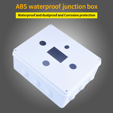 Practical Outdoor Connection IP55 Waterproof Junction Box ABS Durable Dustproof With Plug Terminal Protection For Electric Cable