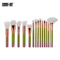 2017 New Style 15 Pcs 1 Set Pro Makeup Set Powder Foundation Professional Makeup Brushes Set