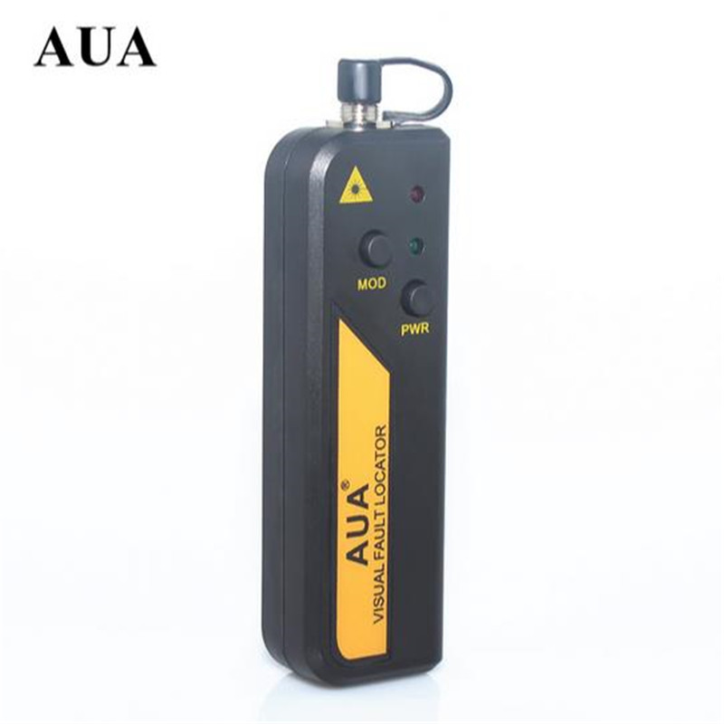 Free Shipping AUA Mini 10mw Fiber Optic Laser Visual Fault Locator, Fiber Optic Cable Tester 10KM