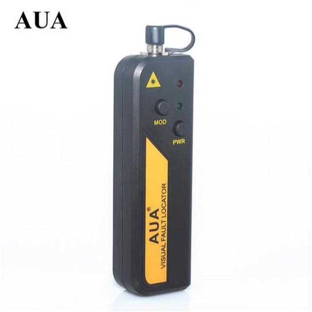 Frete grátis AUA Mini 10 mw Visual Fault Locator Fibra Óptica Laser, Cabo de fibra Óptica Tester 10 KM