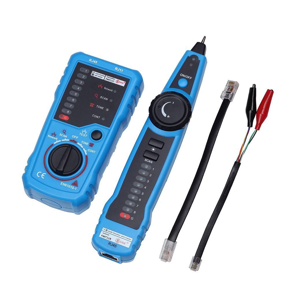 BSIDE FWT11 RJ11 RJ45 Cat5 Cat6 Telephone Wire Tracker Tracer Toner Ethernet LAN Network Cable Tester Detector Line Finder HOT