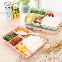 Microwave oven heating capable of sealing partition type food container 24.5*17.5*4cm free shipping