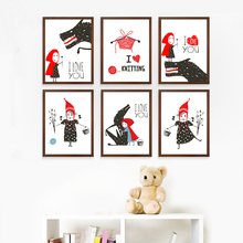 Nordic Cute Abstract Cartoon Fairy Tale A2 A3 A4 Canvas Art Print Poster Picture Wall Children Bedroom Home Decoration