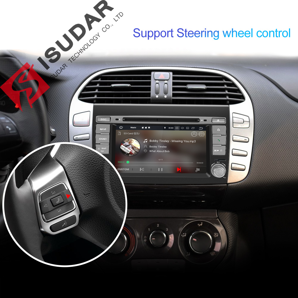 Image 5 - Isudar 2 Din Auto Radio Android 9 For Fiat/Bravo 2007 2012 Car GPS Stereo Multimedia Player Octa Core RAM 4GB ROM 64GB DSP DVR-in Car Multimedia Player from Automobiles & Motorcycles