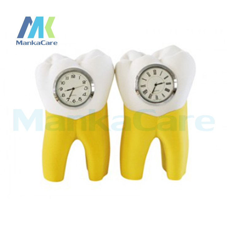 Artware Tooth Clock Resin Handicraft Dentist Gift Resin Crafts Dental Clinic Decoration Furnishing Articles Creative Artwork
