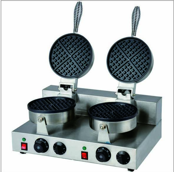 Double head commercial Electric  egg Waffle Maker Machine digital and commercial double head waffle maker rectangle waffle machine