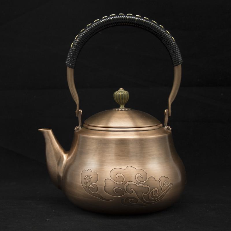 1,2L Handmade Red Copper Teapot 1