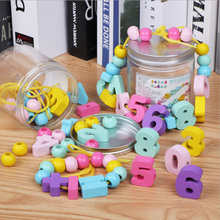 Tinned colored number beads LS02 children number calculation children early education wear beads educational toys wood calculation beads developmental toy