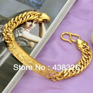 NEW ARRIVAL 18 k gold jewelry dragon MANCOOL BOY bracelet KS177