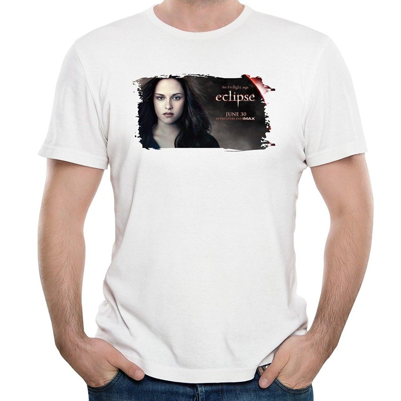 Gildan Mens Eclipse Kristen Stewart Bella Swan Poster T-shirts L White